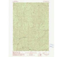 USGS Topo Map Oregon Dutchman Butte 279734 1990 24000 Photographic Print