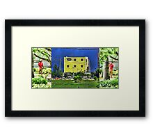 Storm Behind the Storage Framed by Red Fashion Dude Framed Print