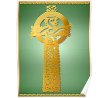 Gold Celtic Cross Poster Poster