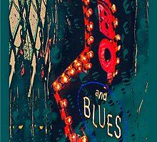 Bar-B-Q and Blues Abstract by susan stone