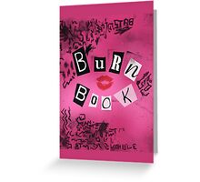 Burn Book Greeting Card