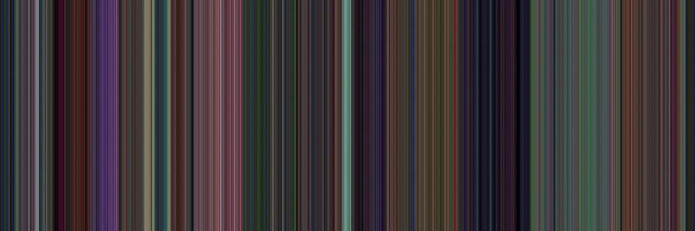 Moviebarcode: Alice in Wonderland (1951) [Simplified Colors] by moviebarcode