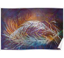 Watercolour: Feather Fantasy Poster