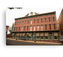 Las Vegas, New Mexico - Plaza Hotel Canvas Print
