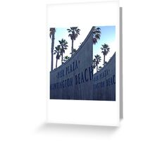 Pier Plaza Huntington Beach Greeting Card