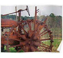 Antique Tractor - Rusted and Weathered Poster