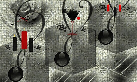 Wall Art Design - 10 - Black and white by haya1812