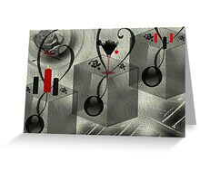 Wall Art Design - 10 - Black and white Greeting Card