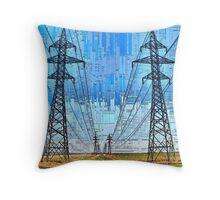 Prairie Power - Feeding the City Throw Pillow