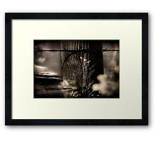 Through The Fence Line Framed Print