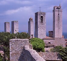 Towers, San Gimignano, Tuscany, Italy. by johnrf