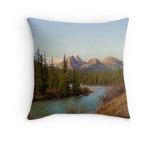 Bow Range - Banff National Park Throw Pillow