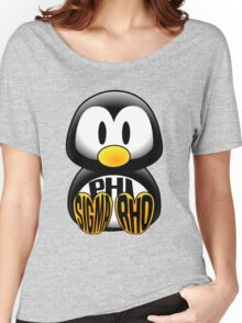 Phi Sigma Rho Penguin Women's Relaxed Fit T-Shirt