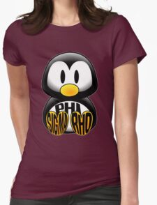 Phi Sigma Rho Penguin Womens Fitted T-Shirt