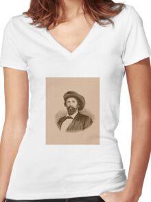 General John Hunt Morgan -- Civil War Women's Fitted V-Neck T-Shirt