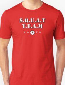 WAFA Squat Team in Red/White/Blk Unisex T-Shirt