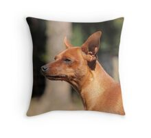Scenting the air Throw Pillow