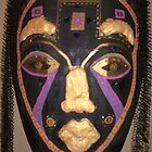 Female African Warrior Mask by Jennifer Ingram