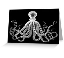 Octopus | Black & White Greeting Card