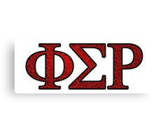 Phi Sigma Rho Rose Letters Canvas Print