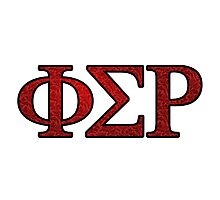 Phi Sigma Rho Rose Letters Photographic Print