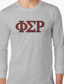 Phi Sigma Rho Rose Letters Long Sleeve T-Shirt
