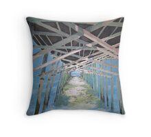 Emerald Isle Pier Throw Pillow