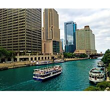 Chicago River from DuSable Bridge  Photographic Print