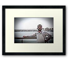 The Poser Framed Print