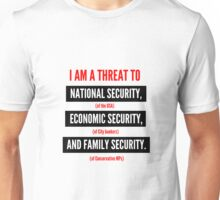 "Jeremy Corbyn ""A Serious Threat"" t-shirt (White) Unisex T-Shirt"