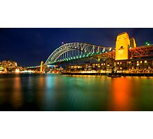 Bridge at night Photographic Print