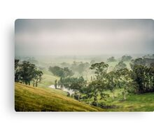 Mist Valley Canvas Print