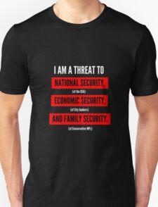 "Jeremy Corbyn ""A Serious Threat"" t-shirt (Black) T-Shirt"