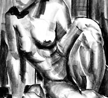 Nude Female Life Drawing by Renato Roccon