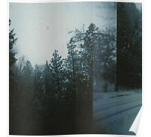 double exposed snow. Poster