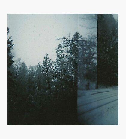 double exposed snow. Photographic Print