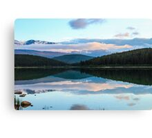 Sunset over Patricia Lake Canvas Print
