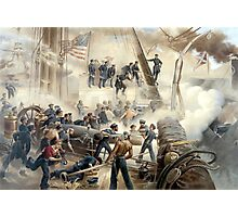 Civil War Naval Battle Photographic Print