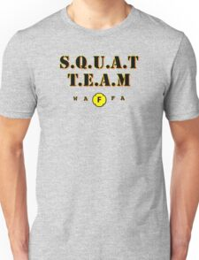 WAFA Squat Team Gray/Black/Yellow Unisex T-Shirt