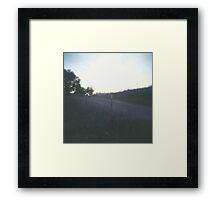 lavender field. Framed Print