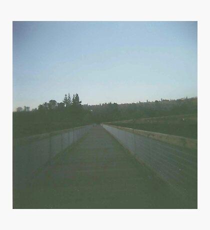 on the bridge. Photographic Print