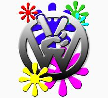 VW Peace hand sign with flowers Unisex T-Shirt