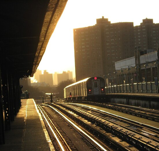 Bronx Subway, New York City  by Alberto  DeJesus