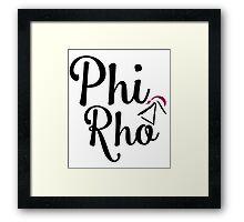 Phi Rho Script Framed Print