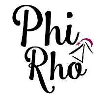 Phi Rho Script Photographic Print