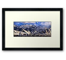 Salt Lake City - Panorama Framed Print