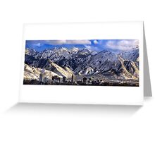 Salt Lake City - Panorama Greeting Card