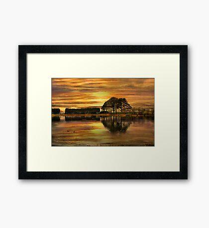 Sunset !! Framed Print