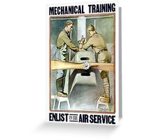Enlist In The Air Service -- WW1 Greeting Card