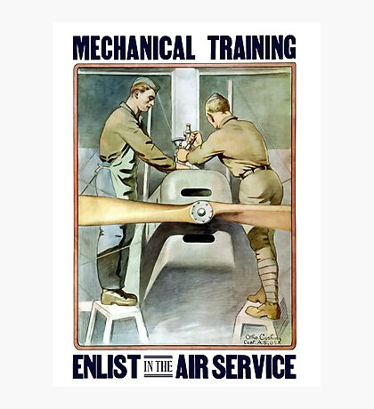 Enlist In The Air Service -- WW1 Photographic Print